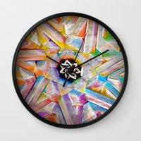 escher Wall Clocks featuring Escher Star by Todd Huffine