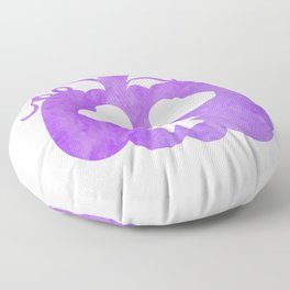 Halloween Watercolor Pumpkin Face Purple 2 Floor Pillow