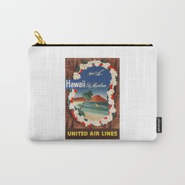 1950 Hawaii United Airlines Travel Poster Carry-All Pouch