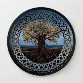 Tree of life -Yggdrasil drawing Wall Clock