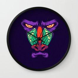 monkey face Wall Clock
