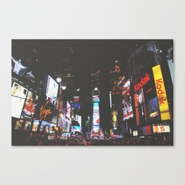 Evening Glow - Times Square Canvas Print