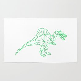 Spinosaurus Dinosaur Paleontology Design Rug