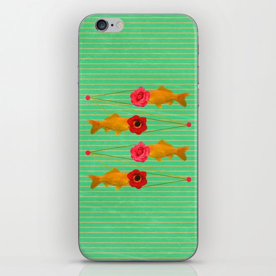 fishes and flowers iPhone & iPod Skin
