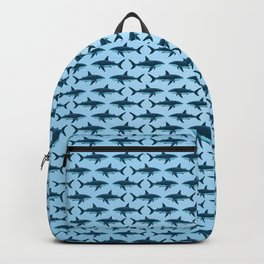 Pattern: Great White Shark  ~ Light Blue ~ (Copyright 2015) Backpack