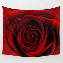 Dark Red Aesthetic Vintage Retro Roses Background Wall Tapestry