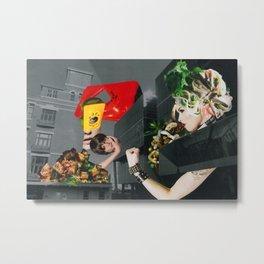 Food fantasy collage series #1 Metal Print