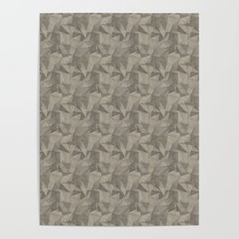 Abstract Geometrical Triangle Patterns 2 Benjamin Moore 2019 Trending Color Pashmina Beige AF-100 Poster