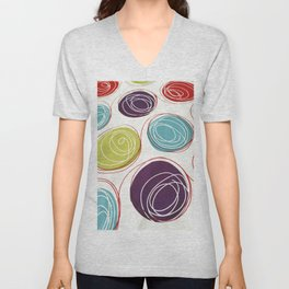 Colored circles Unisex V-Neck