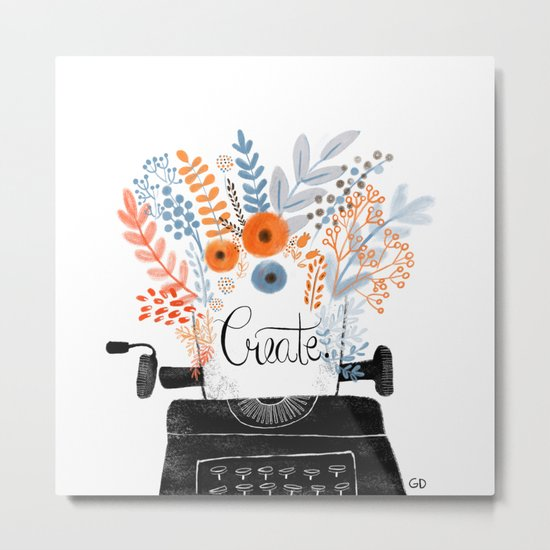 Create | Typewriter Metal Print