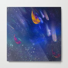 Moon Galaxy Metal Print