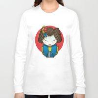 geisha Long Sleeve T-shirts featuring Geisha by Sara Penco