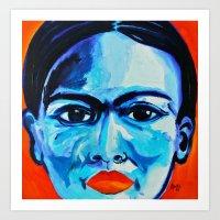 frida khalo Art Prints featuring Ometeotl en el Cielo Frida Khalo by Anel I. Flores