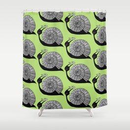 Cartoon Snail With Spiral Eyes Shower Curtain