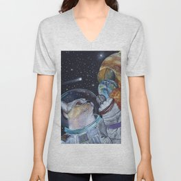 Cat in Space Unisex V-Neck