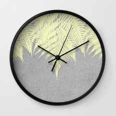 Concrete Fern Yellow Wall Clock