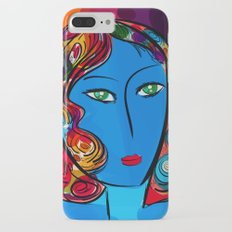 Blue Pop Girl of the morning iPhone 7 Plus Slim Case