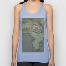 Africa Old Map Unisex Tank Top