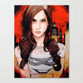 AJ Lee in Gotham Canvas Print