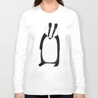 badger Long Sleeve T-shirts featuring Badger  by Jilly Bird