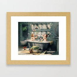 """H. Ch. Andersen tale motive  """"The Ugly Duckling"""" Framed Art Print"""