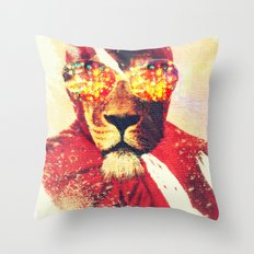 Lion Zion Throw Pillow