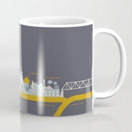 "City on a ""Plate"" (Night) Coffee Mug"