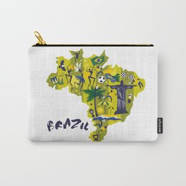 Abstract Brazil Soccer Mural Carry-All Pouch
