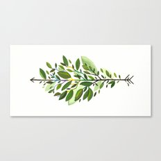 Leaf Arrow Canvas Print