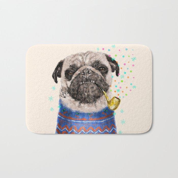 Mr.Pug II Bath Mat