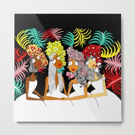 Sisters of a Feather Flock Together Metal Print