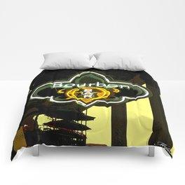 New Orleans Bourbon Street Bar Comforters