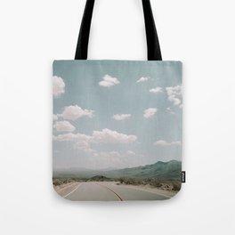 THE ROAD THROUGH THE DESERT Tote Bag