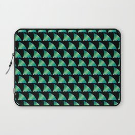 Green shark fin pattern Laptop Sleeve