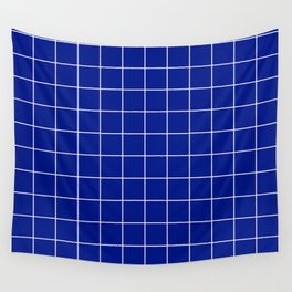 Sapphire Grid Wall Tapestry