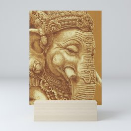Ganesha orange Mini Art Print
