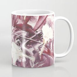 Purple Blooms Monoprint Coffee Mug