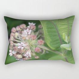 Milkweed Flower Rectangular Pillow