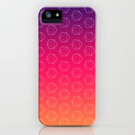 D20 Roleplaying Die Icosahedron Colorful Pattern iPhone Case