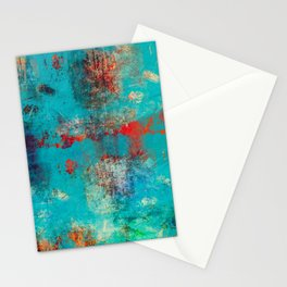 Aztec Turquoise Stone Abstract Texture Design Art Stationery Cards