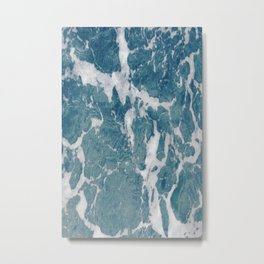 Sea Marble Metal Print