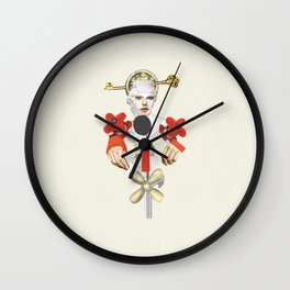 Interview collage artwork Wall Clock
