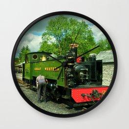 Devils Bridge Steam Wall Clock