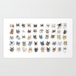 50 cat bleps! Art Print