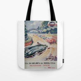 1954 Le Mans poster, Race poster, car poster, programme officiel Tote Bag