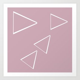 Triangle art sketching Art Print