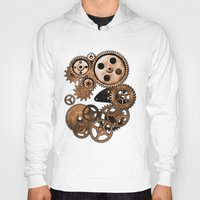 steam punk Hoodies featuring Steam Punk Gears by GrimDork