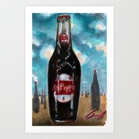 dr pepperland Art Print