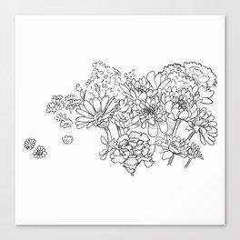 Bouquet (fraction) Canvas Print