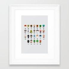 Star Wars Alphabet Framed Art Print